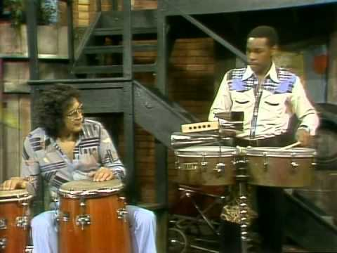 Classic Sesame Street - Ray Barretto Demonstrates Drum Sounds