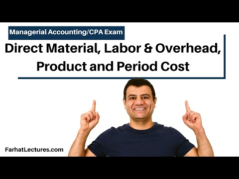 Direct Material, Direct Labor & Overhead, Product And Period Cost | Managerial Accounting | CMA Exam