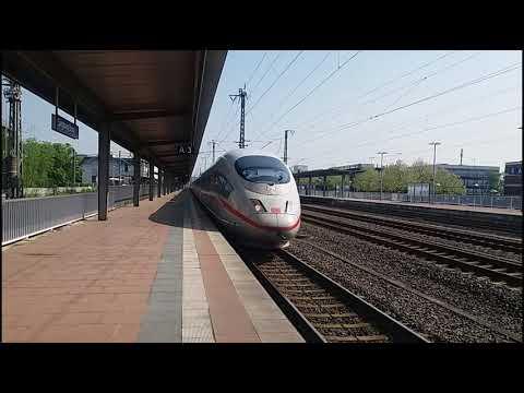 German ICE 3 Highspeed Trains at Siegburg/Bonn Station (21.04.2018)