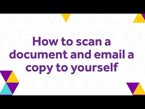 How To Scan Do Ent And Email Copy To Yourself