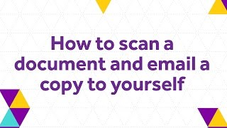 How to scan a document and email a copy to yourself - The University of Manchester Library