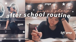 after school routine 2020 | junior in hs