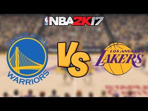 NBA 2K17 - Golden State Warriors vs. Los Angeles Lakers - Full Gameplay