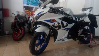 Full review warna baru suzuki gsx-r150 brilliant white 2018 | keyless dan velg racing blue