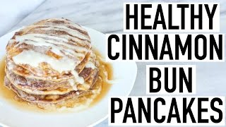 HEALTHY CINNAMON ROLL PANCAKES! Healthy Breakfast Idea! Cooking With Liv Ep. 24