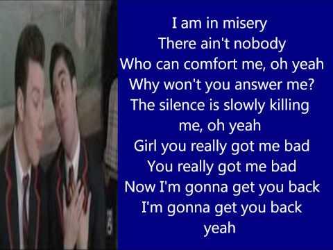 Glee Misery Lyrics