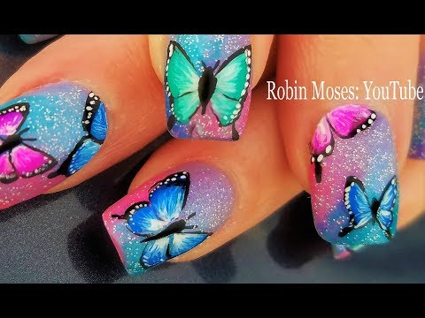 Gorgeous Butterfly Fresh Spring Nail Art 2018