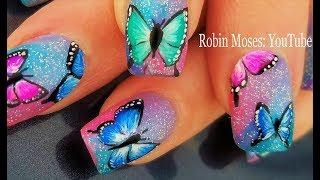 Gorgeous Butterfly Nails! Fresh Spring 2018 Nail Art Butterflies Design!