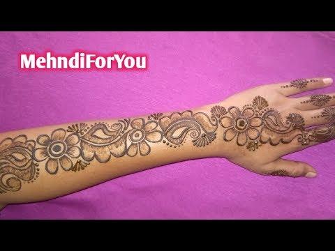 Back hand mehndi design || Arabic heena design || Shaded Arabic mehndi design