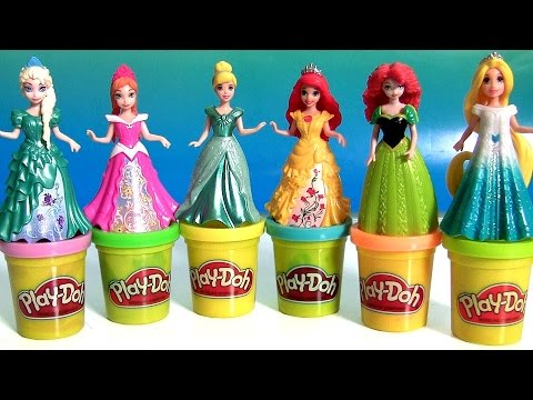 Thumbnail: Play Doh Magiclip Cinderella Fairytale Set with Prince Charming Royal Carriage PlayDough Magic Clip
