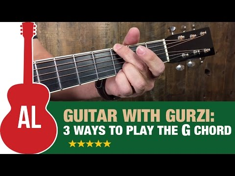 3 ways to play the G chord