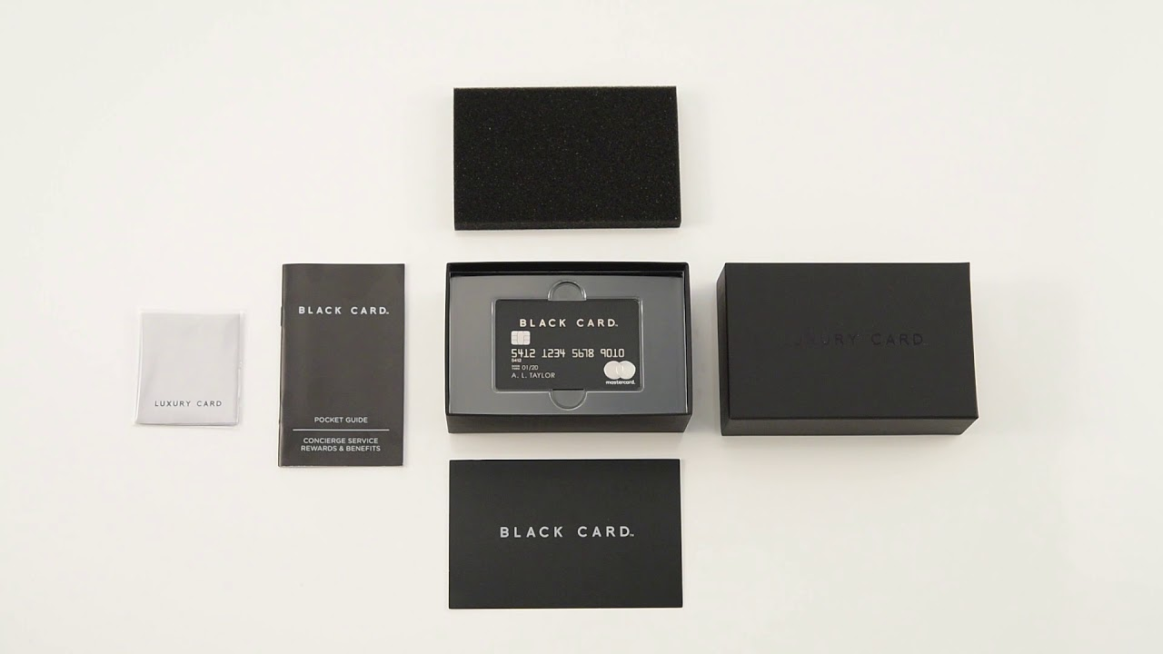 Carte Platinum Black Card.Unboxing The Luxury Card Mastercard Black Card
