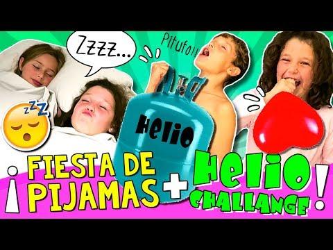😴 ¡¡FIESTA de PIJAMAS en el CUMPLEAÑOS de Daniela + HELIO challenge!! 🎈 ¡El SLEEPOVER más loco! 😝