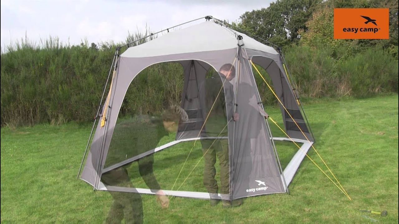 Easy C& Pavilion Tent Pitching Video | Just Add People & Easy Camp Pavilion Tent Pitching Video | Just Add People - YouTube