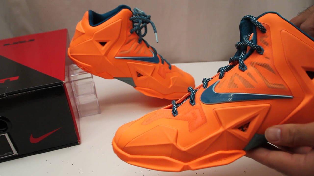 Nike LeBron XI 11 Atomic Orange Basketball Shoe Review ...