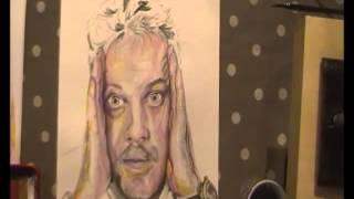 Eddie Izzard speed painting