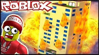 WE RUN FROM THE BURNING HOTEL IN ROBLOX!!! -[New] Escape the Hotel Obby!! | RiZiPlaysTV