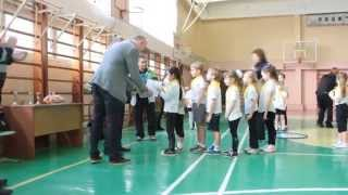 Открытый урок физкультуры в школе № 1 Ялты