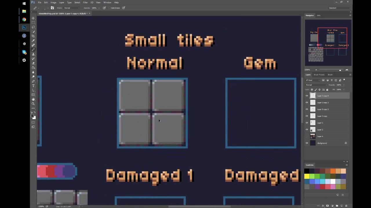 Tutorial Pixel Art Tile Floor Youtube