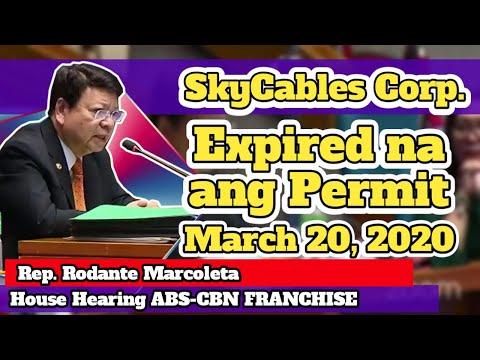 Congressman Marcoleta Hindi Pinalusot ang SkyCable under ABS-CBN