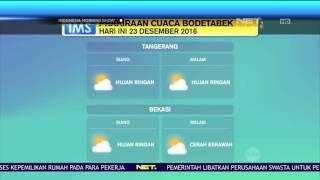 Prakiraan Cuaca 23 Desember 2016