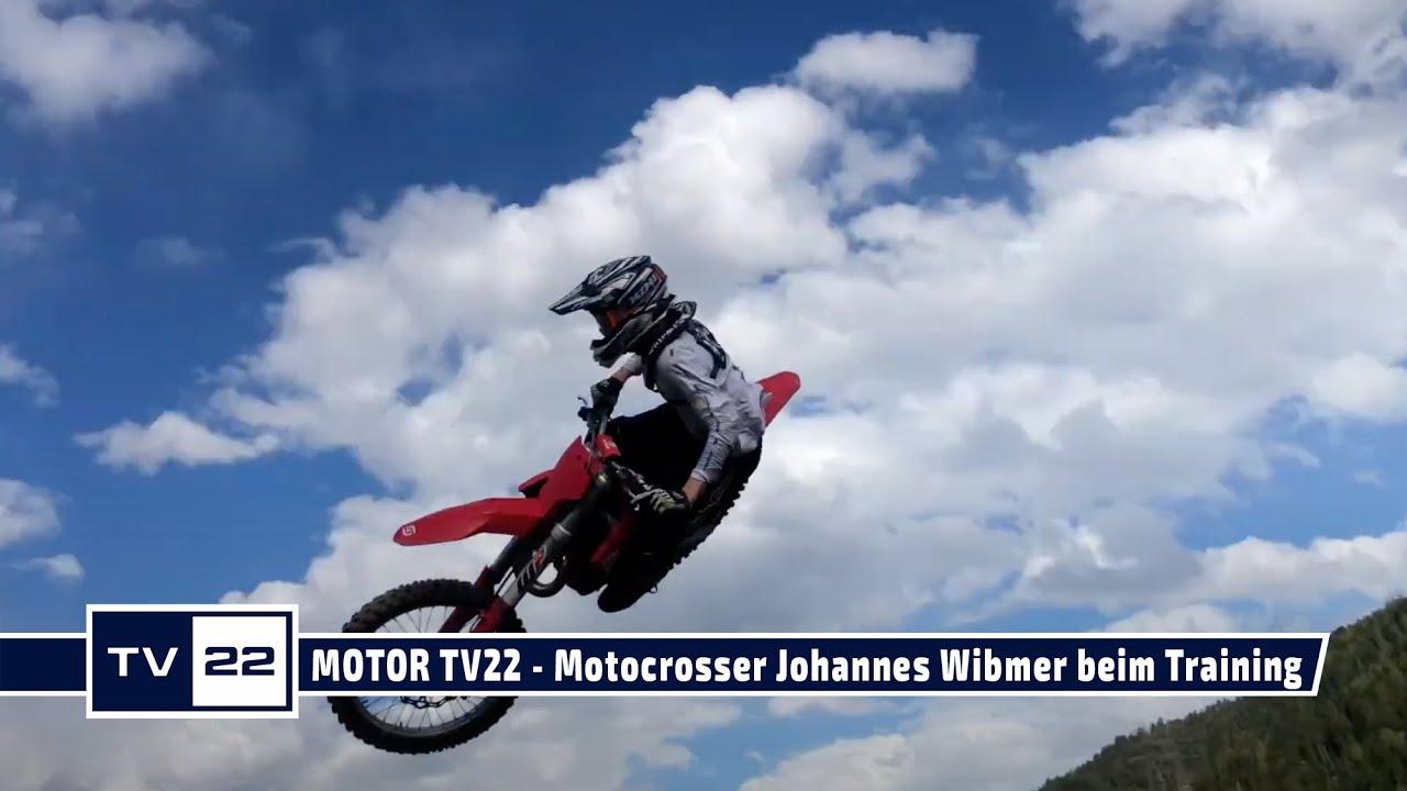 MOTOR TV22: Motocrosser Johannes Wibmer beim Training