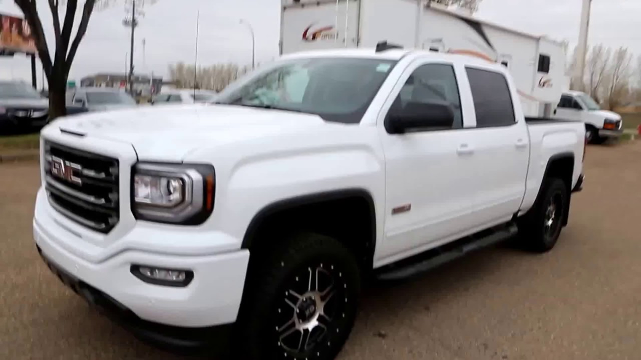 summit white 2017 gmc sierra 1500 slt all terrain for sale in medicine hat ab youtube. Black Bedroom Furniture Sets. Home Design Ideas