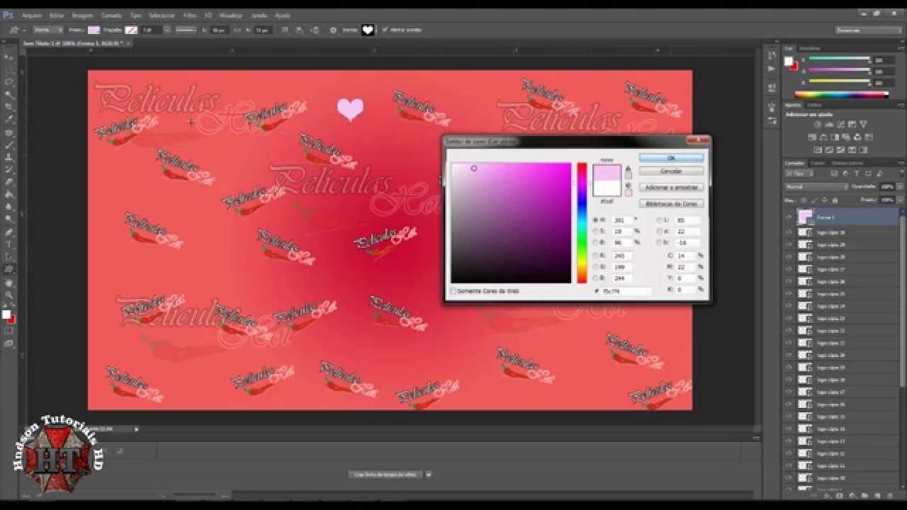 Como fazer painel de fotos no photoshop 5