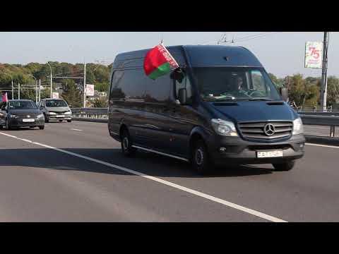 «#ябатьки» в Бресте: автопробег против санкций