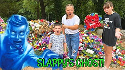 FINDING SLAPPYS GHOST IN THE GRAVEYARD! ESCAPE The Ghost of Slappy from Goosebumps!