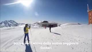 Campo Imperatore 2018 sciare a Pasquetta con vista sul mare