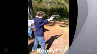 13 year old shooting biggest hand gun ever made