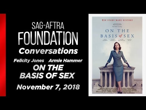 Conversations with Felicity Jones & Armie Hammer of ON THE BASIS OF SEX