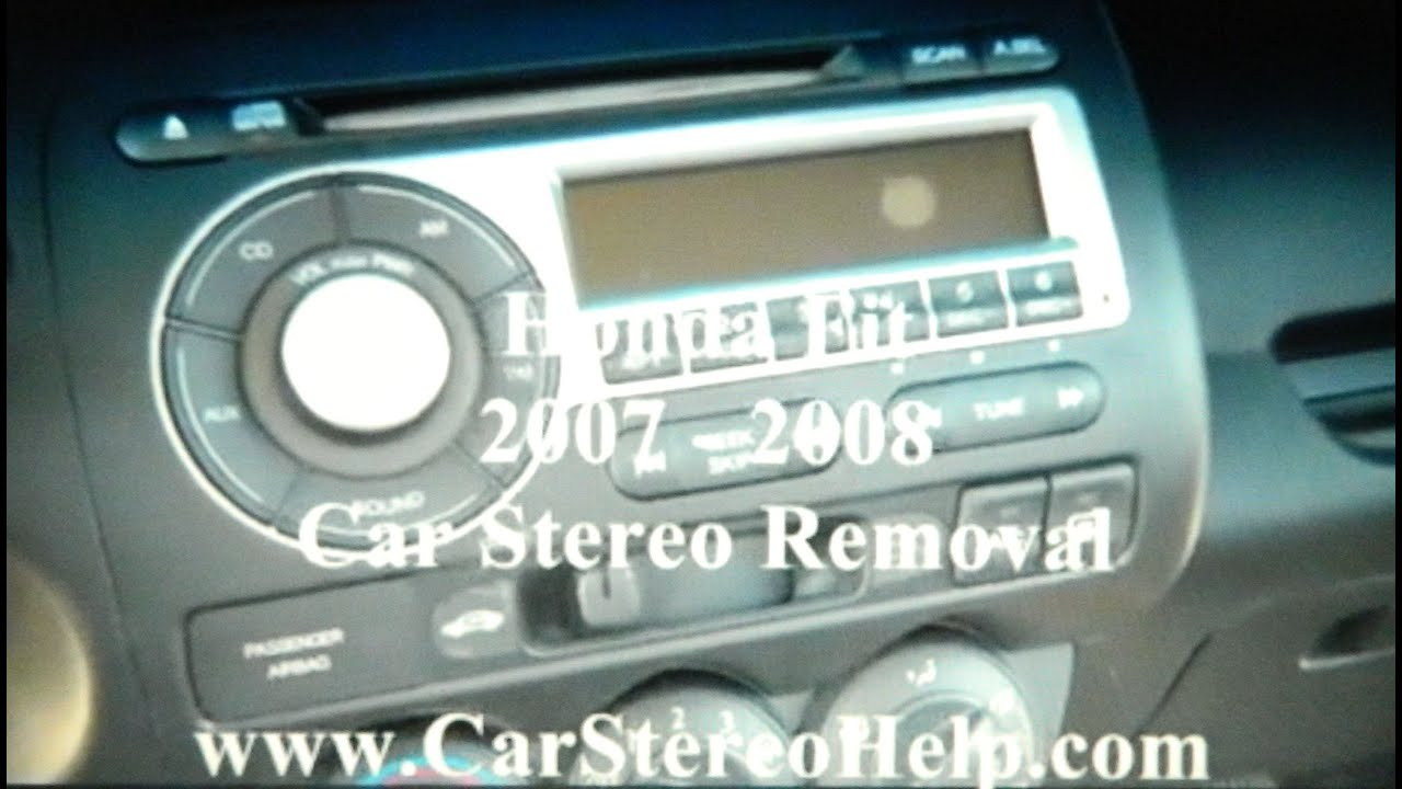 How to Honda Fit Car Stereo Removal 2007 - 2008 replace repair aux ...