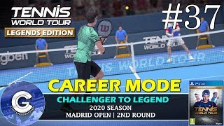 Let's Play Tennis World Tour | Career Mode #37 | GRAND SLAM ROUND 2 | Tennis World Tour Career Mode