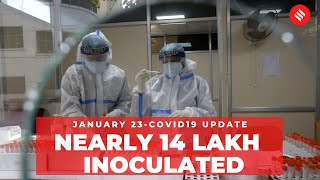 Coronavirus Update Jan 23: Nearly 14 lakh beneficiaries inoculated against Covid-19 in India