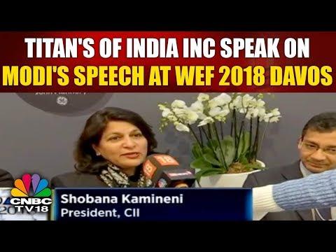 Titan's of India INC Speak on PM Modi's Speech at WEF 2018 Davos    CNBC TV18