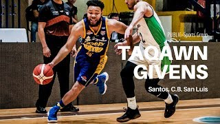Taqawn Givens FIBA Pro Ball debut vs. Aguateros