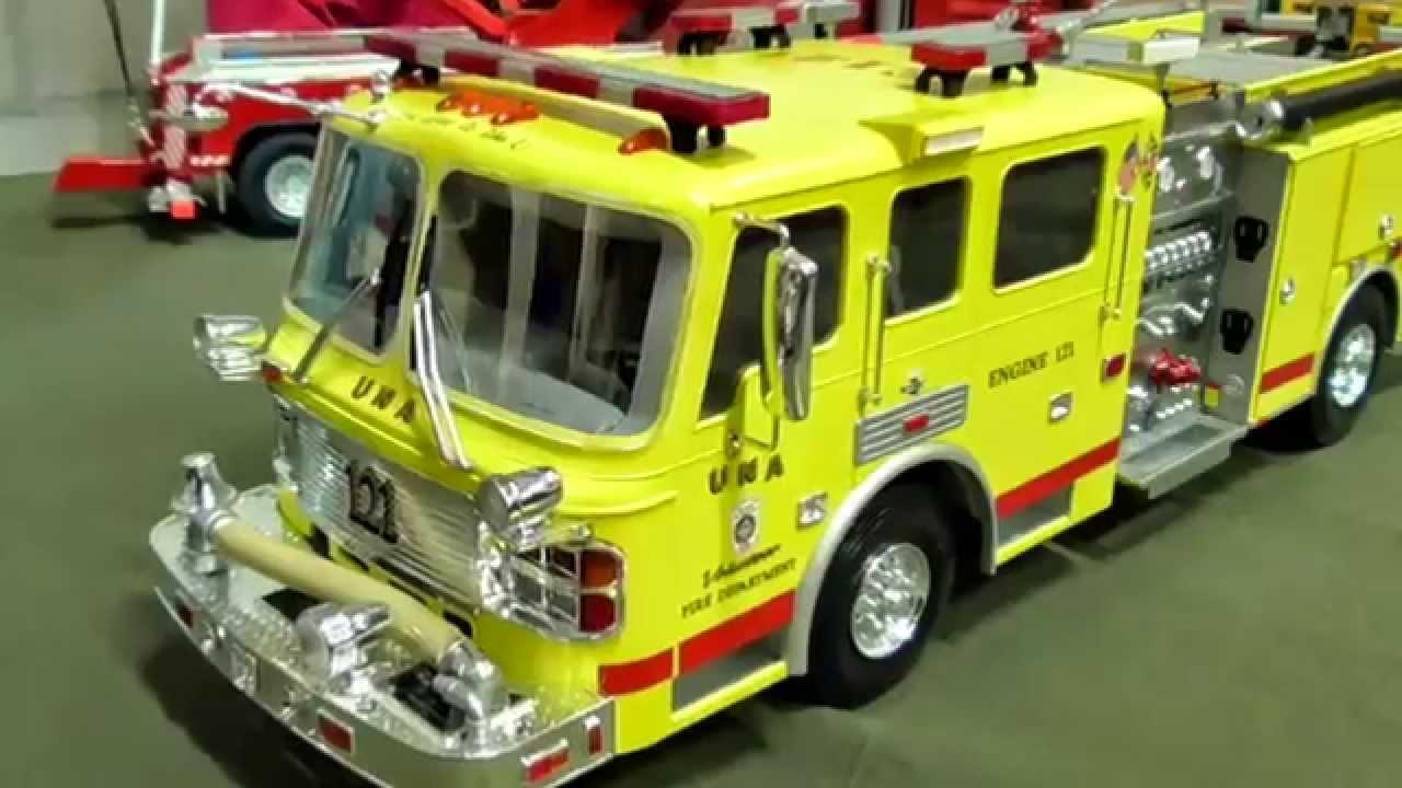 rc mini scale trucks homemade american la france fire truck youtube. Black Bedroom Furniture Sets. Home Design Ideas