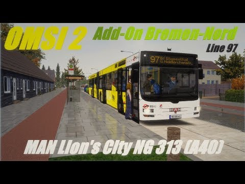 OMSI 2 • Add-On Bremen-Nord (line 97) • MAN Lion's City NG 313 (A40)