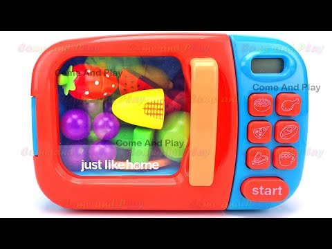 Microwave Fruits Surprise Toys and Learn Colors with Play Doh Ducks