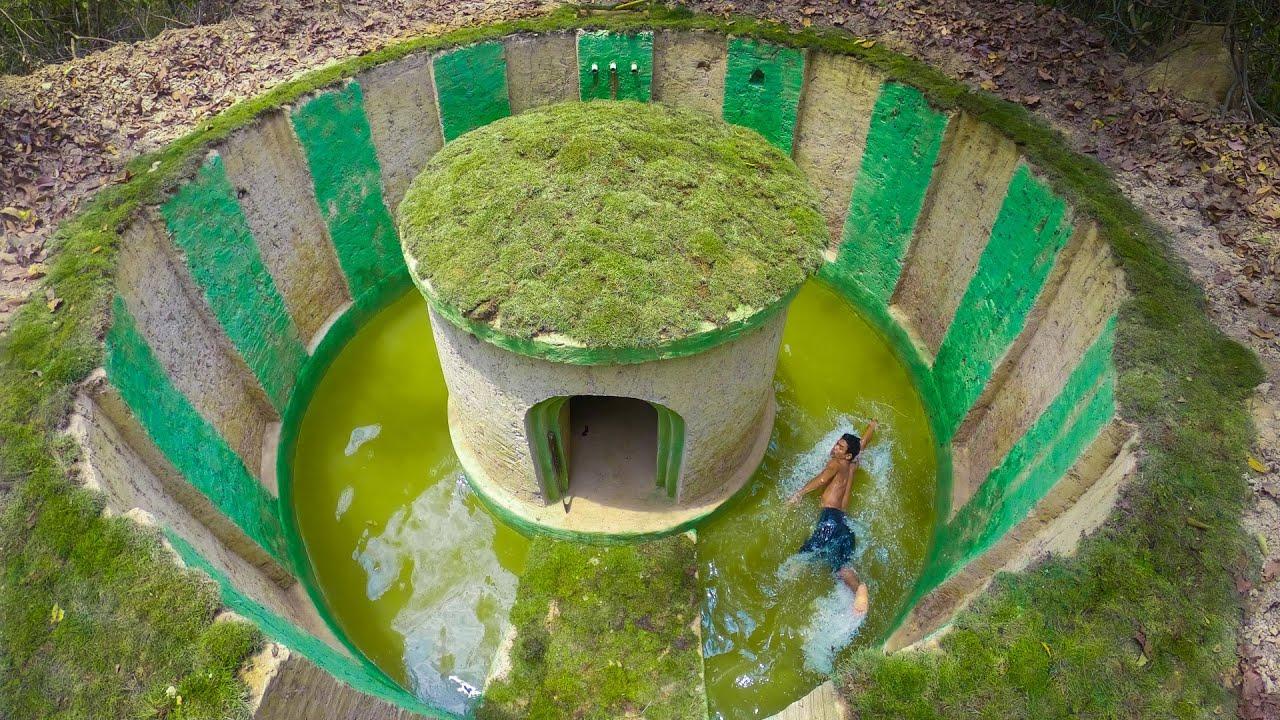 Build the Most Amazing Underground Villa and Underground Swimming Pool Building