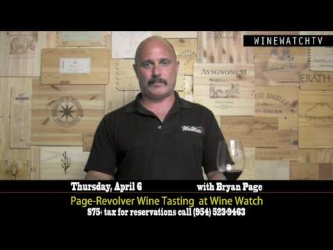 Page & Revolver Wine Tasting with Bryan Page at Wine Watch - click image for video