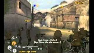 PS2 Full Spectrum Warrior Ten Hammers Chapter  2 British invasion part 1 of 2