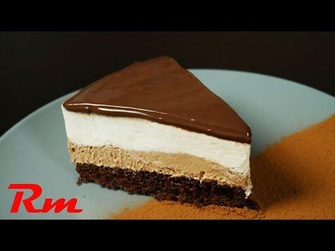 Γλυκό ψυγείου τετράχρωμο Easy 4-layer chocolate dessert