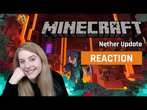 My reaction to the Minecraft Nether Update Trailer | GAMEDAME REACTS