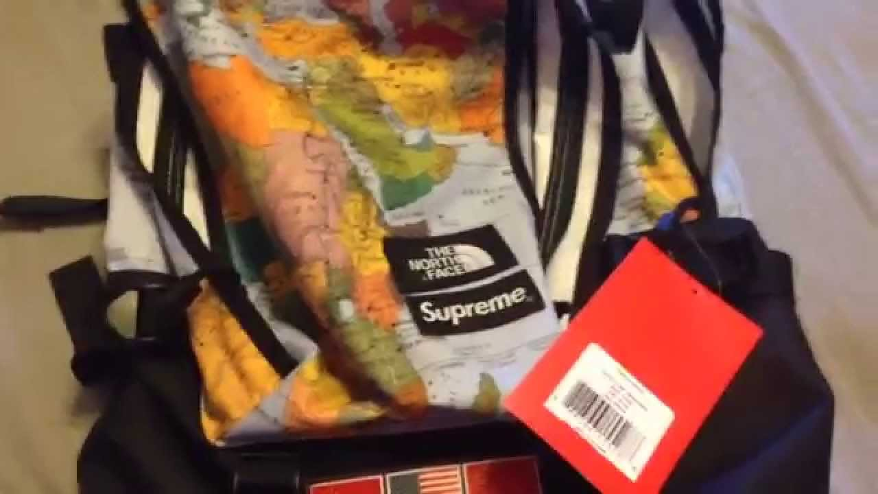 Supreme x the north face expedition map backpack ss14 youtube supreme x the north face expedition map backpack ss14 gumiabroncs Choice Image