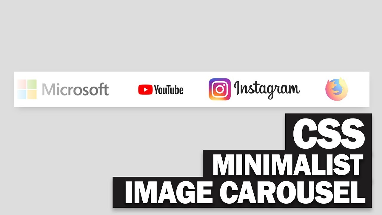 Minimalist CSS Image Carousel Tutorial