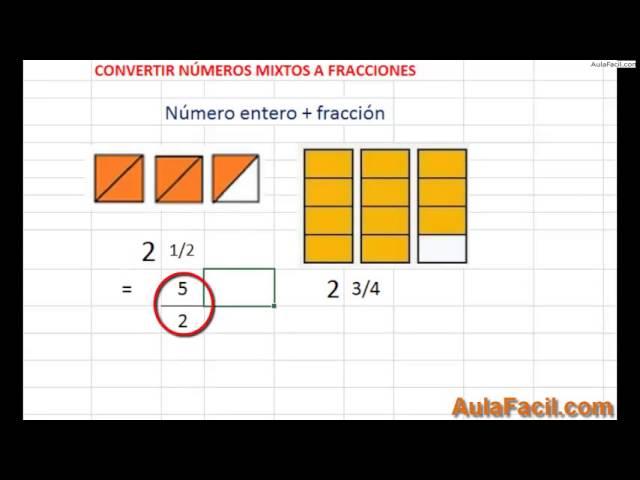 ⏩Números Mixtos - Matemáticas Quinto Primaria (10 años) | AulaFacil ...