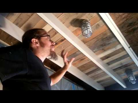 The Shack - Recycled Pallet Wood Ceiling